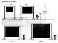 Plano de montaje de pantalla gigante