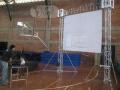 Alquiler de estructura y pantalla gigante para colegio Champagnat